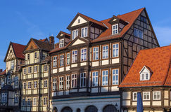 The street with half-timbered houses in Quedlinburg, Germany Royalty Free Stock Image