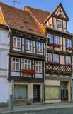 The street with half-timbered houses in Quedlinburg, Germany Royalty Free Stock Photography