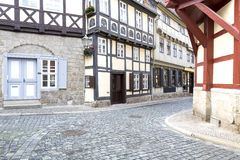 Street with half-timbered houses Royalty Free Stock Photo
