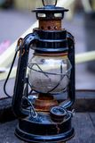 Kerosene street lamp stock photo