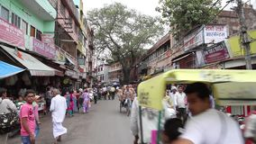 Street in Haridwar stock video