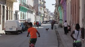 Street in Havana, Cuba. Street in Havana Central district. Havana Central is mostly populated part of Havana and it is pne of the poorest part of the city