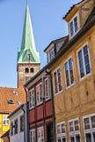 Street in Helsingor Denmark Royalty Free Stock Photo