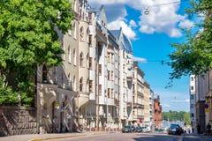 Street in Helsinki. Finland, EU Royalty Free Stock Images
