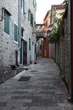 Street in Herceg Novi, Montenegro stock photo