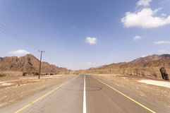 Street in the Highlands of Ras al Khaimah Stock Image