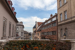 Street in the historic center of Budapest Royalty Free Stock Image
