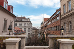 Street in the historic center of Budapest Royalty Free Stock Photo