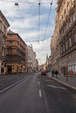 Street in the historic center of Budapest Royalty Free Stock Images