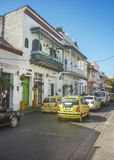Street of Historic Center of Cartagena Colombia Royalty Free Stock Photos