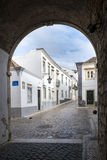 The street in historic center of Faro Royalty Free Stock Images