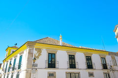 The street in historic center of Faro Portugal Royalty Free Stock Photo