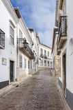 The street in historic center of Faro, Portugal Royalty Free Stock Photo