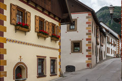 Street in the historic center of Mauterndorf Stock Photo