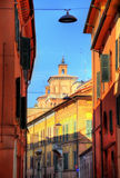 Street in the historic centre of Ferrara Royalty Free Stock Photography