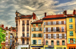 Street in the historic centre of Le Puy-en-Velay royalty free stock image