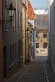 Street in the historic centre of Wismar Royalty Free Stock Image