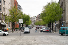 Street in the historic district of Berlin - Gendarmenmarkt Royalty Free Stock Photo