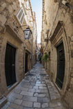 Street in the Historic Old Town and Fortress of Dubrovnik, Croatia on the Adriatic Sea Stock Images