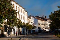 Street at historic part of Santiago de Compostela. Galicia Stock Image