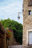 Street in the historic village of Gordes, Provence, France Stock Photos