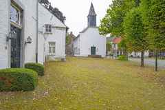 Street in the historic village of Stevensweert Royalty Free Stock Photography