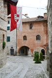 Street and historical buildings in Cividale, Italy Royalty Free Stock Images