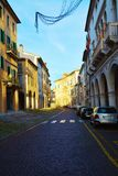 Street and historical buildings, Conegliano Veneto, Treviso Royalty Free Stock Photography