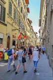 Street in the historical center of Florence Stock Images