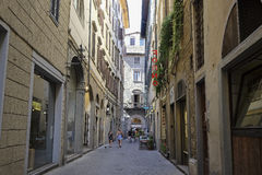 Street in the historical center of Florence Royalty Free Stock Photos