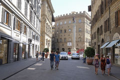 Street in the historical center of Florence Royalty Free Stock Photo