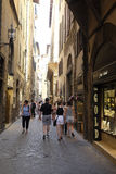 Street in the historical center of Florence Royalty Free Stock Photography