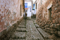 Street in the historical city center. Stock Photography