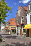 Street in historical Delft Stock Photos