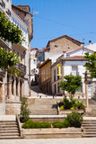 Street at historical part of Monforte de Lemos Stock Photos
