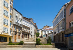 Street at historical part of Monforte de Lemos Royalty Free Stock Photography