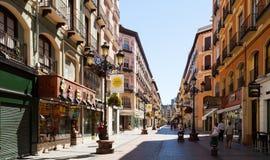 Street at historical part of Zaragoza.  Aragon Royalty Free Stock Images