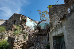 Street of history abandoned town in old Aliano Royalty Free Stock Photos