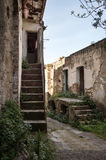 Street of history abandoned town in old Aliano Royalty Free Stock Images