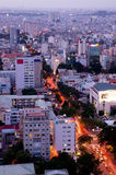 A street. In Ho Chi Minh City from Above Stock Images