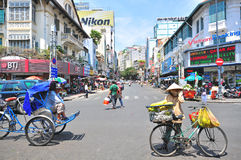 In the street of Ho Chi Minh city, Vietnam Stock Photo