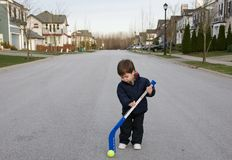 Street hockey Royalty Free Stock Image