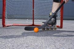 Street hockey #4. Street hockey player in action Stock Image