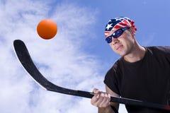Street hockey #6. Street hockey player in action Stock Image