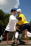 Street hockey fight Stock Photo
