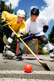 Street hockey fight Royalty Free Stock Photography