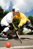 Street hockey fight Stock Photos