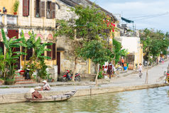 Street of Hoi An Ancient Town. Royalty Free Stock Images