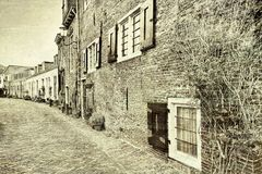 Street in the Holland City of Amersfoort Stock Photos