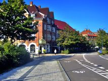 Street in Holte. Urban view of street in Holte Copenhagen area Stock Photography